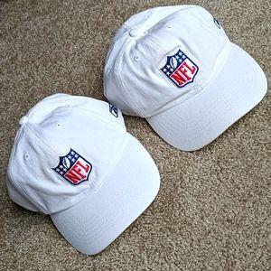 2 NFL reebok caps vintage velcro